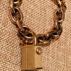 Henri Bendel Jetsetter Rose Gold padlock bracelet